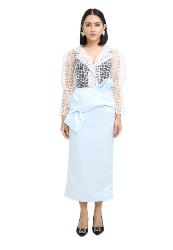 Blubelle blue Lara Skirt in Baby Blue 3596CAA57936F8GS_1