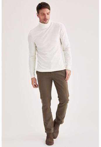 DeFacto green Regular Chino Trousers FB36BAAECE7DAAGS_1