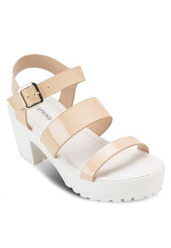 Astiarien 多帶繞踝粗跟涼鞋, 韓系時尚, 梳esprit retail妝