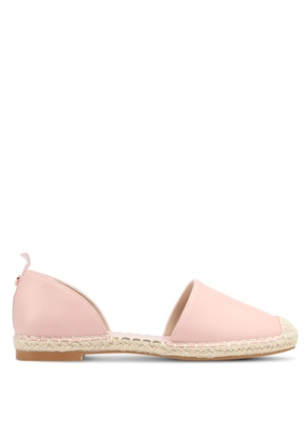 Velvet pink Faux Leather Espadrilles D2040SH6CD2D39GS_1