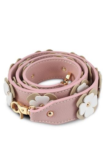 Christy Ng pink Rebel Pink Floral Shoulder Strap CH330AC0SAFVMY_1