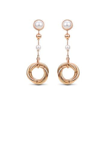 Glamorousky white Temperament Ring Earrings with White Fashion Pearls CC8BAAC0383F9CGS_1