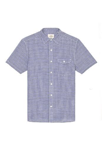 Kent and Curwen blue Blue Casual Shirt 15C4DAA59B86FAGS_1