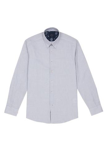 Benjamin Barker grey Nagaba Washed Grey Chambray Shirt 4C2BFAA315C569GS_1