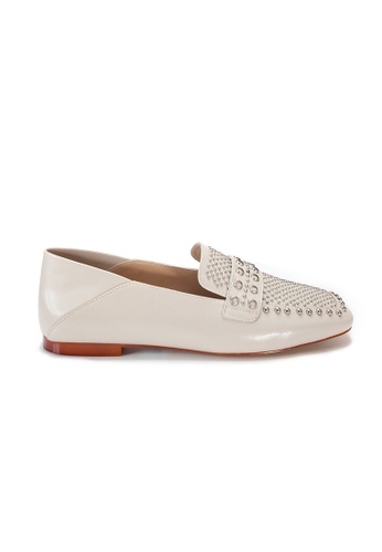 Shu Talk beige Amaztep Stylish Studs Convertible Loafers 235C7SHDCDD9D2GS_1