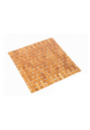 Primeo brown Premium Small Anti-Slip Bamboo Mat Bedroom Bathroom Kitchen 23558HLED39370GS_1