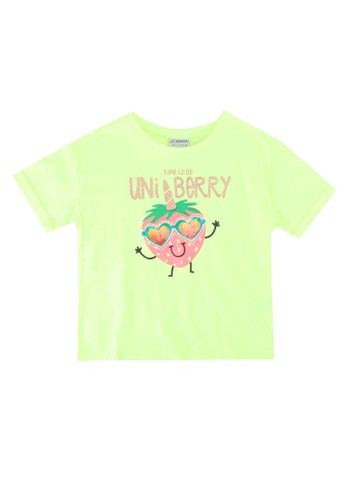 LC Waikiki yellow Girl's Printed Short Sleeve T-shirt E2D8EKA68EBB09GS_1