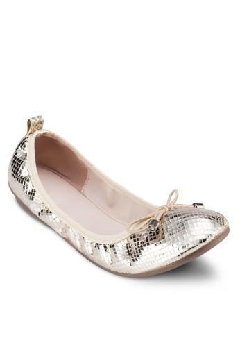 蝴蝶結亮esprit香港門市面彈性娃娃鞋, 女鞋, 鞋