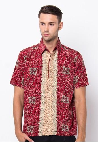 Waskito Hem Batik Semi Sutera - HB 10540 - Red