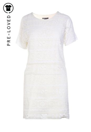 Vince white Pre-Loved vince Lace Shift Dress A4DACAA42FF585GS_1