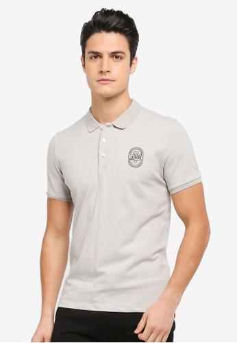 JAXON grey Jaxon Logo Polo Shirt C0E20AAD90F935GS_1