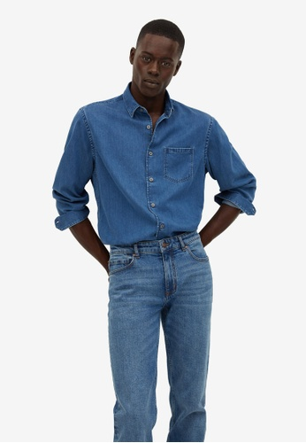 Mango Man blue Denim Lyocell Regular-fit Shirt CDB54AA1AB4598GS_1