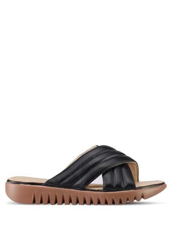 Mimosa black Crossover Slip On Sandals 7608FSHF972176GS_1