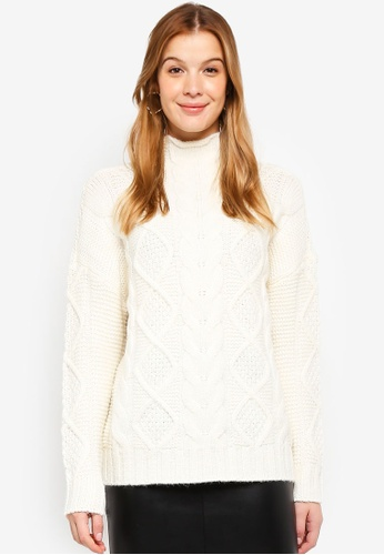Y.A.S white YASBANDY KNIT PULLOVER 6E99AAA5702F37GS_1