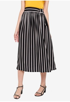 e6ef67dbe1 Miss Selfridge black International Stripe Buckle Skirt DA545AABF06CD9GS_1