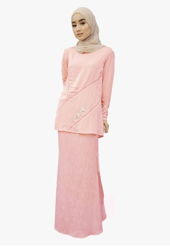 Kurung Organza With Beads from Zoe Arissa in Pink