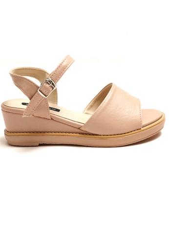 Crystal Korea Fashion beige Korean-made Summer Pure Color Wild Sandals B98A5SHFA421F9GS_1