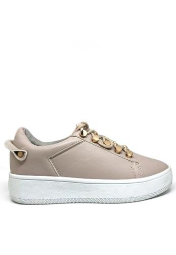 Twenty Eight Shoes beige Platform Sneakers 8296-318 F567BSH2D2E2F4GS_1