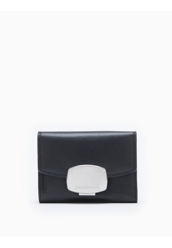 Calvin Klein black Compact Flap Wallet With Metal Buckle 2B836AC1A143A1GS_1