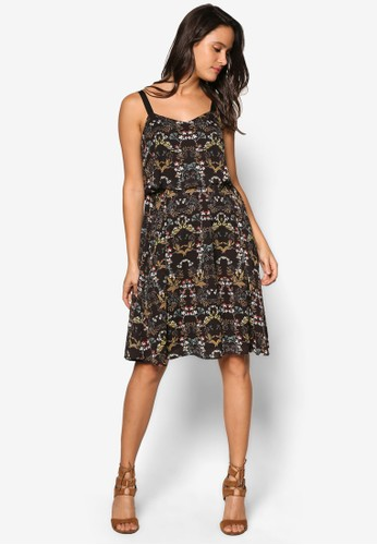 ZALORA black Collection Floral Tiered Dress ABB8BAA0DC7A2FGS_1