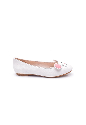 Elisa Litz white Mouse Flats (White) 40E8DSH80B1787GS_1