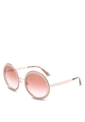 940ddfc7e0ff Shop Dolce   Gabbana Pink Round DG2179 Sunglasses Online on ZALORA  Philippines