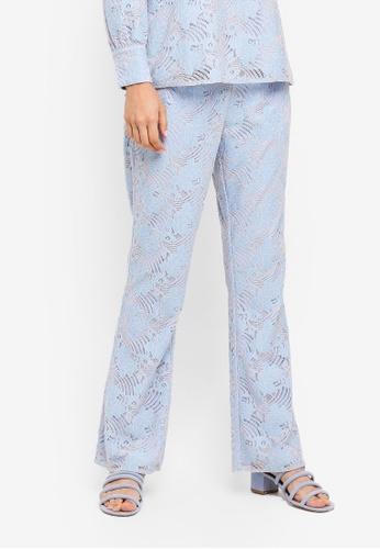Zalia blue Frill Details Lace Pants 2371EAA4F02C7EGS_1