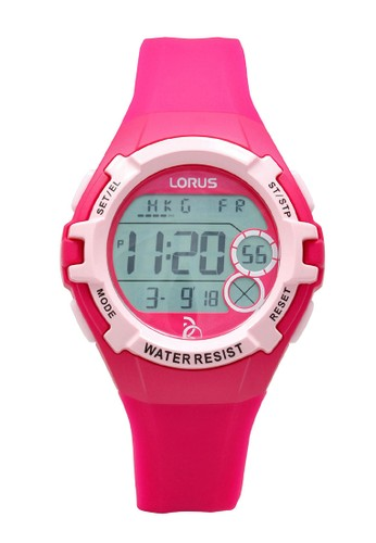 Lorus red LORUS Jam Tangan - Red Pink - Silicon - R2397LX9 3A921ACDAC89A4GS_1