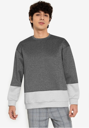 ZALORA BASICS multi Minimal Colour Block Sweatshirt 97DB1AA8FF57E5GS_1