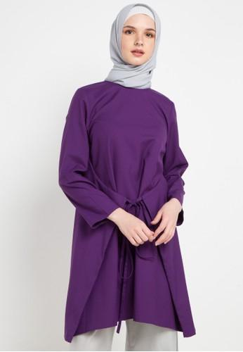 OMARA purple Valeria Blouse 32ED1AA1242DCFGS_1