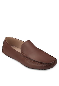 Faux Leather Casual Loafers