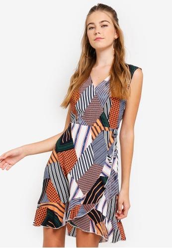 Something Borrowed multi Sleeveless Ruffled Wrap Dress 9D98EAA2CB8085GS_1