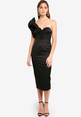 f15ff7fa714 Buy Elle Zeitoune Voluminous One Shoulder Detail Dress Online