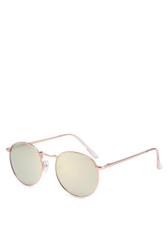 Mango gold Round Mirrored Sunglasses 60E85GL241AD1FGS_1