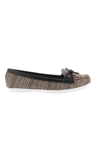 Beira Rio black and grey and white and multi Laced Casual Slip On Moccassin BE995SH41XEOHK_1