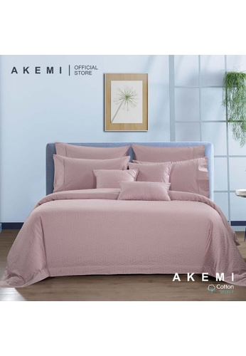 AKEMI pink AKEMI Cotton Select Affinity - Monaco Jill Memory Pink (Fitted Sheet Set) 2FBD9HL3E897DAGS_1