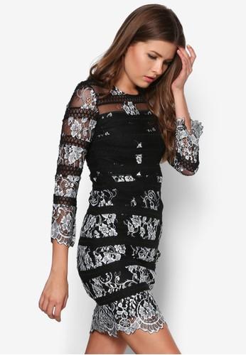 Alice 鉤花長袖洋裝, 服esprit 寢具飾, 服飾