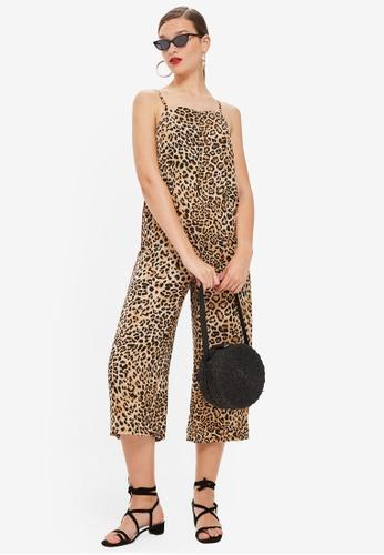 b27647d87b79 TOPSHOP brown Leopard Print Jumpsuit 8AA41AA095229CGS 1