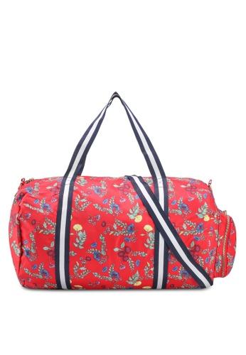 Rubi red and multi Istanbul Foldable Duffle Bag 892AFAC5C8E006GS_1