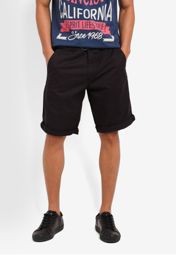 ESPRIT black Woven Regular Shorts 8490EAAEFD304AGS_1