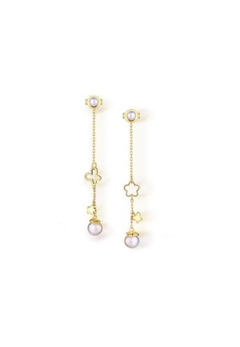 SUNSET gold Premium 925 Sliver Pearl Earring 2F2E4AC8D2CFA8GS_1