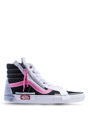 VANS black SK8-Hi Reissue CAP Sneakers E9031SHF5723DAGS_1