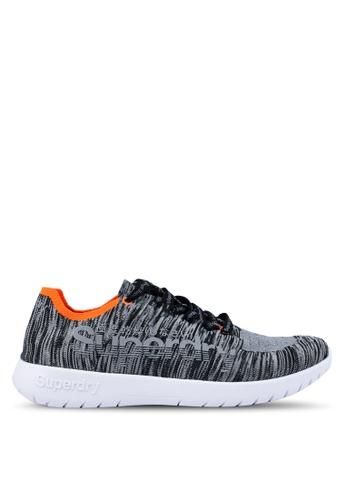 Superdry grey Superknit Sprint Sneakers 50B0CSH60A6FE8GS_1