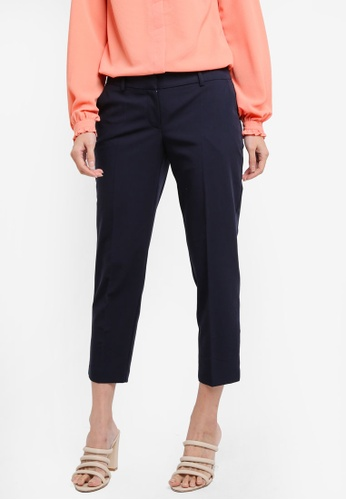 Dorothy Perkins navy Petite Navy Naples Ankle Grazer Pants A9671AAAF3C257GS_1
