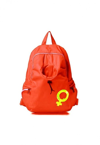 Lucky JX orange Wil Nylon Water Resistant Travel Backpack 1C7B8AC394428AGS_1