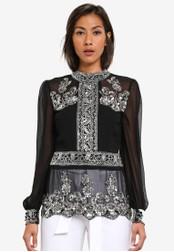 Miss Selfridge black Black Grace Embellished Blouse MI665AA0SABMMY_1