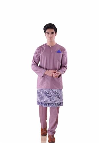 I Am Famous purple Asytar Baju Melayu with Sampin 2642CAA777A123GS_1