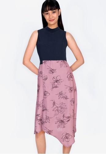ZALORA BASICS multi Sleeveless Asymmetrical Hem Dress A17FEAA0BE859CGS_1