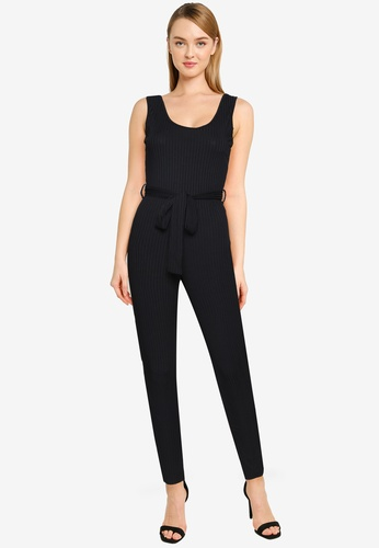 MISSGUIDED black Scoop Neck Unitard Jumpsuit 278A1AA687FE7FGS_1
