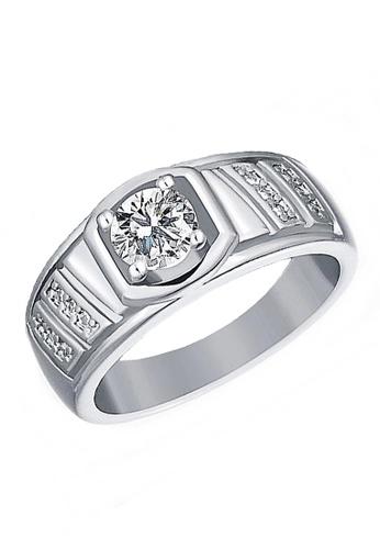 Elfi silver Elfi 925 Genuine Silver Engagement Ring R15 - The Noble King EL186AC71TRCMY_1